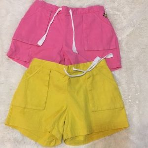 Pink and yellow shorts